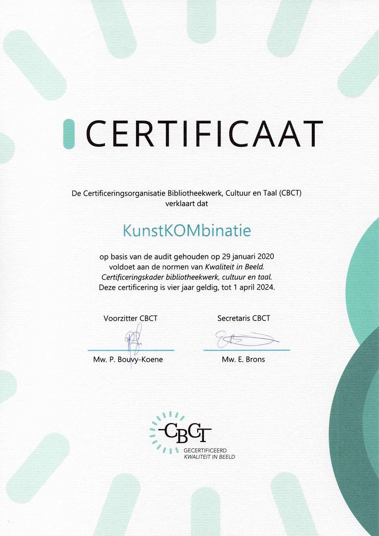 Certificering CBCT