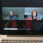 Online les met saxofoon docent Elsie Reiziger